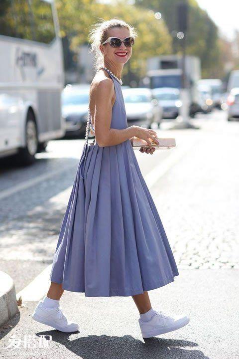 吊带裙+球鞋