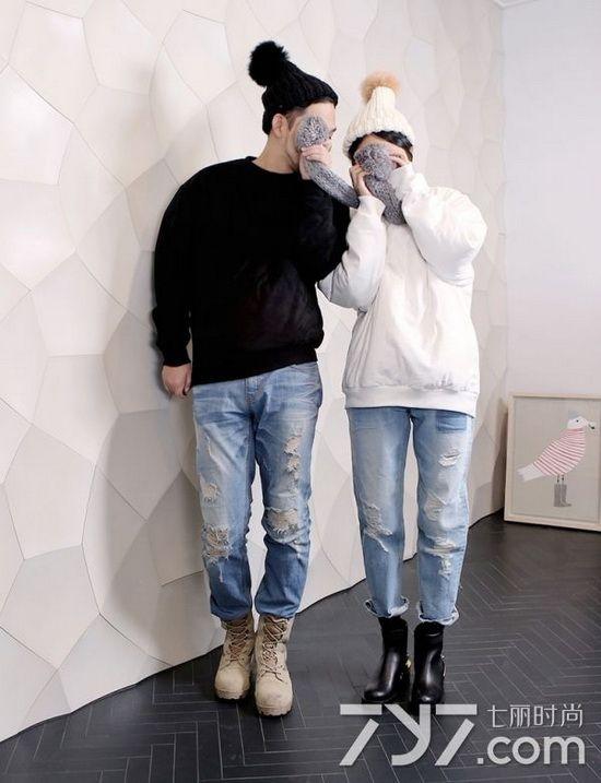 首尔街头扫描,2016年卫衣情侣装新款